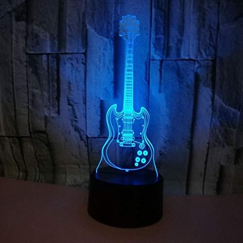 The Bad Touch Kostüm - Musik Instrume Gitarre Modell LED 3D