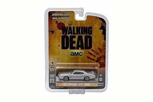 walking-dead-1971-pontiac-gto-silver-greenlight-44730-1-64-scale-diecast-model-toy-car-by-greenlight