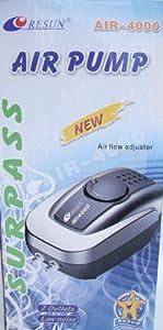 Aquarline Air 4000 Twin Outlet Air Pump, 320 Liter/Hour