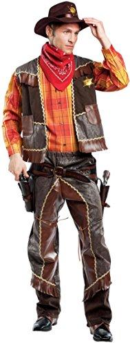 Chiber - Sheriff Herren Cowboy Weste Kostüm (XL - XLarge)