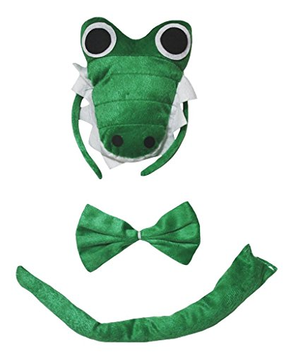 band Bowtie Schwanz 3pc Costume Einheitsgröße 3d Crocodile ()