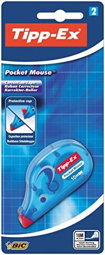 Tipp-Ex - Mini correttore tascabile, con tappo di protezione ruotabile, 10 m x 4,2 mm, scatola da 2 pezzi