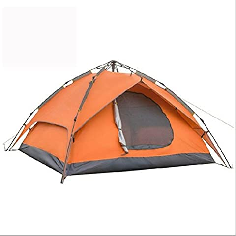 Automatic Camping Tent , 3-4 People,ORANGE,3-4 people