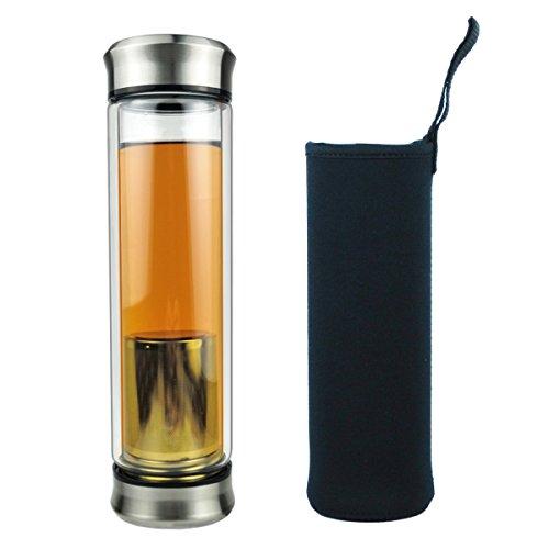 Botella Cristal Té Vidrio Agua Infusión Tetera...