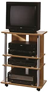 fmd tv and stereo trolley variant 7 65 0 x 85 0 x 40 0 cm beech kitchen home. Black Bedroom Furniture Sets. Home Design Ideas