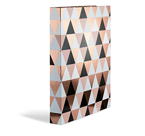 Herma 7041 Ringbuch A4 Abstract in trendigem Roségold aus stabilem Karton - Perfekt zum Ordnen und Organisieren Ihrer Unterlagen