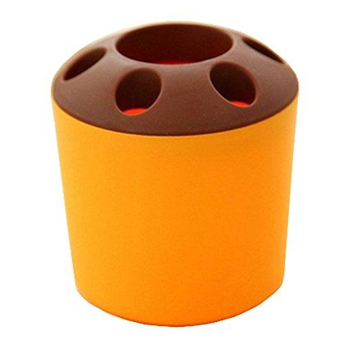 Blancho Multifonctionnel Brosse à dents boîte de porte plumier Accessoires de bain Jaune