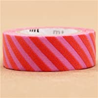 Nastro adesivo coprente Washi mt fab a strisce viola e rosa bordi irregolari