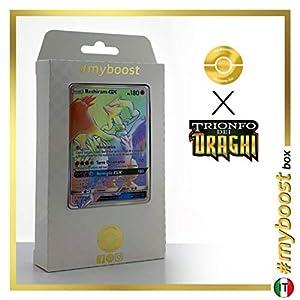 Reshiram-GX 71/70 Arcoíris Secreta - #myboost X Sole E Luna 7.5 Trionfo dei Draghi - Box de 10 Cartas Pokémon Italiano