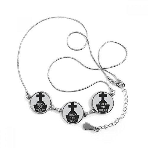 Kreuz Grabstein Runde Form Anhänger Halskette Schmuck mit Kette Dekoration Geschenk ()