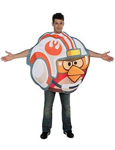 Angry Birds Star Wars Luke Fighter Kostüm Lizenzware weiss orange rot M/L