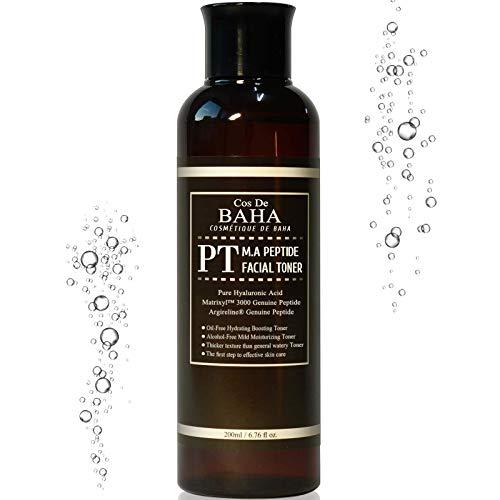 Cos De BAHA Peptide Toner 200ml w Matrixyl 3000 & Argireline - Korean Skin Care for Anti Wrinkles -