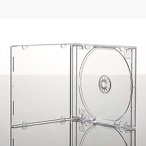 Vision Media 50 x Single CD Jewel Case transparent Tablett - 10,4 mm Rücken