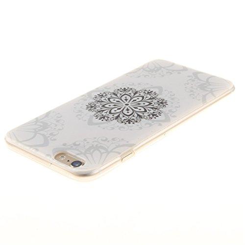 Nancen Ultra Slim Handyhülle für Apple iphone 6 Plus / 6S Plus (5,5 Zoll), Bunt Muster Painted Premium Etui Weich TPU Material Hülle Case Cover Schutz Silikon Schutzhülle Handy Backcover - Anti-kratzf Datura Blumen