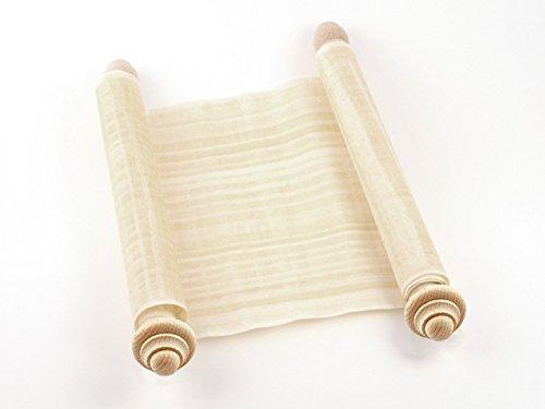 Schriftrolle Papyrusrolle beschreiben - Papyrus mit Holzstangen 100x30cm - Gutschein klein - Geschenkidee Hochzeit-Rolle für Hochzeitseinladungen + Hochzeits-Deko - Papyri Hochzeitskarte groß Papyruspflanze