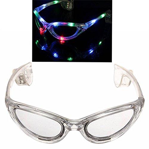 Preisvergleich Produktbild OUTERDO 10er LED Brille Sonnenbrille Leuchtbrille Partybrille Karneval Disco Leucht