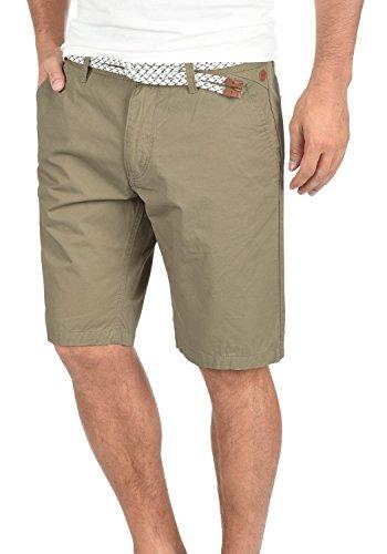 BLEND Ragna Herren Chino-Shorts kurze Hose Business-Shorts mit Gürtel aus 100% Baumwolle Lead Gray (70036)