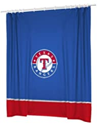 Texas Rangers COMBO Shower Curtain & 2 Pc Towel Set - Decorate your Bathroom & SAVE ON BUNDLING! by Sports Coverage