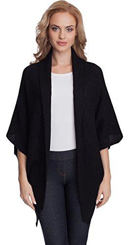 Merry Style Damen Cardigan L1931 (Schwarz)