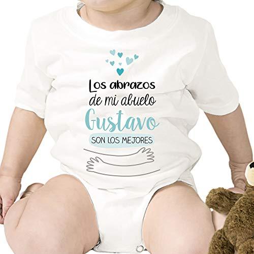 Regalo personalizado: body para bebé 'Abrazos abuelo' personalizable con nombre