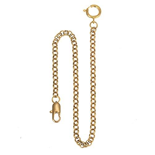 Montre de poche Chaîne - Cuivre ManChDa Chaîne de montre avec crochet Lien 14 pouces d'or Magnifique Chaîne de gilet ManChDa