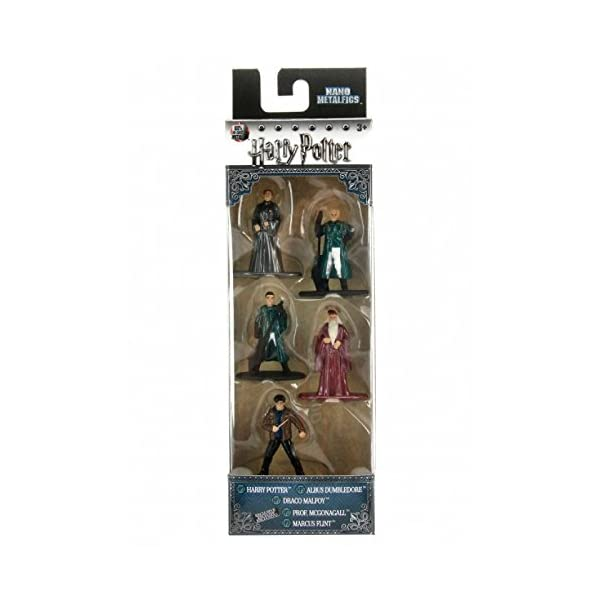 Jada Nano Metalfig Figuras de Harry Potter de pequeño tamaño, Paquete de 5 Unidades:Paquete de 2 Unidades (Harry… 1