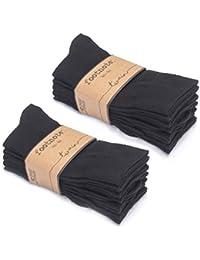 Socken von FOOTNOTE, 10 Paar, Damen/Herren, in schwarz oder jeanstönen, Größen: 35-38, 39-42 und 43-46