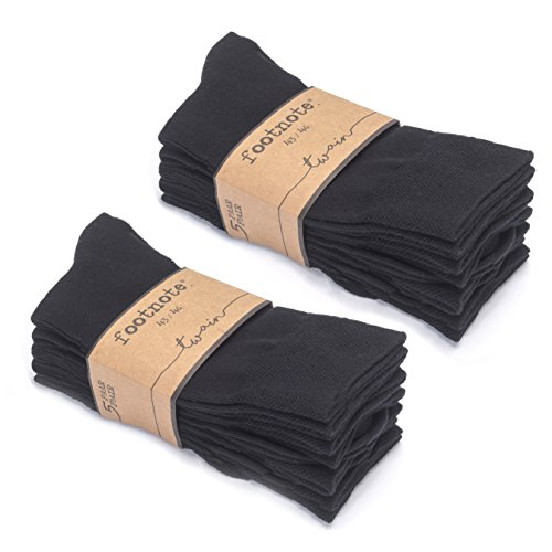 Adidas-schwarz Gestreiften Socken (Socken von FOOTNOTE, 10 Paar, Damen/Herren, schwarz, Größe: 35-38)