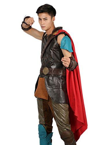 Herren Cosplay Kostüm Deluxe Hero PU Leder Outfit mit Zubehör für Erwachsene Halloween Verrückte Kleid Merchandise
