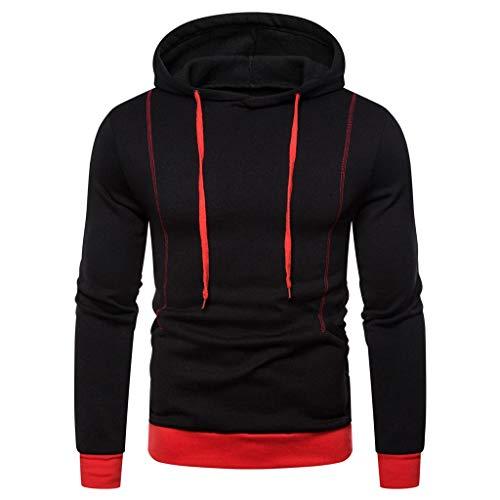 DNOQN Herren Sweatshirt Hoodie Herbst Winter Langarm Kapuzen Sweatshirt Gedruckt Outwear Tops Bluse - Bouclé-baumwolle Pullover