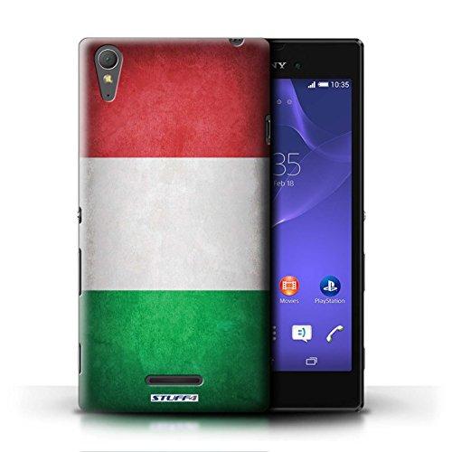 Kobalt® Imprimé Etui / Coque pour Sony Xperia T3 / Finlande/finlandais conception / Série Drapeau Italie/italien
