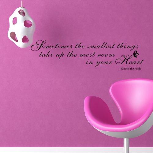 'Adesivo da parete, citazione Winnie the Pooh