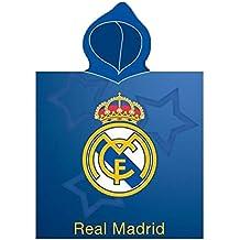 Real Madrid Toalla Poncho Escudo 55x115 Microfibra
