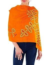 cadeaux de Noël d'orange accessoires de laine handemade tie dye écharpe de vêtements pour femmes pour femme 24x70 pouces