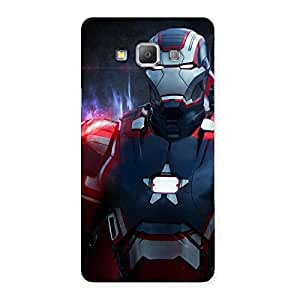 Delighted Bluish Redish Man Back Case Cover for Galaxy A7