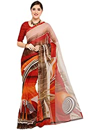 Sidhidata Textile Women's Daily Wear Casual Wear Designer Printed Synthetic Georgette Saree With Blouse Piece...
