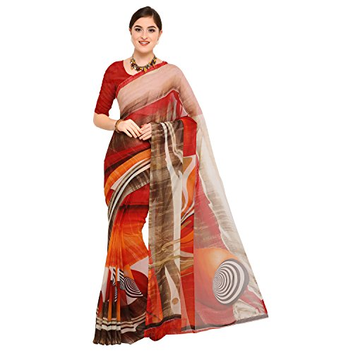 sidhidata Textile women's Daily Wear Casual Wear Designer Printed Synthetic Georgette Saree...