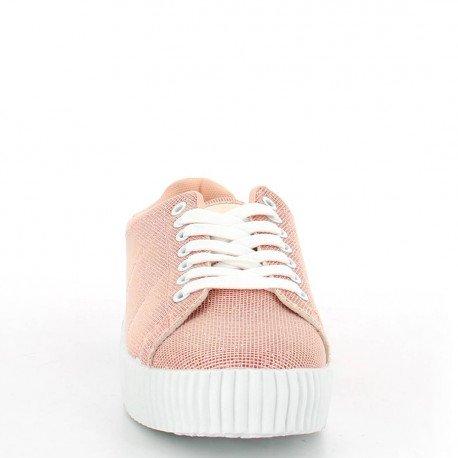 Ideal Shoes - Creepers pailletées Fannie Rose