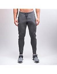 Herren Muscle Fit Sweatpants 2.0 Grau | Gym Aesthetics, Größe:S