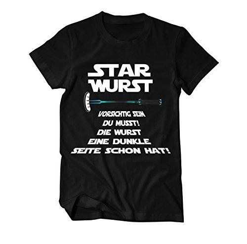 Shirts Wars Stars T (Star Wurst Funshirt T-Shirt Herren Medium)