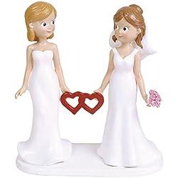 Figura novias con corazón