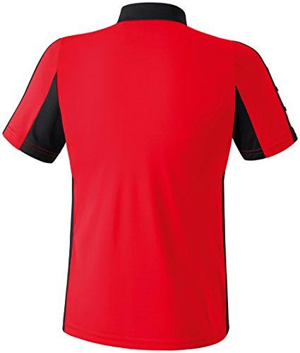 CLASSIC 5-CUBES Poloshirt Rot/Schwarz/Weiß