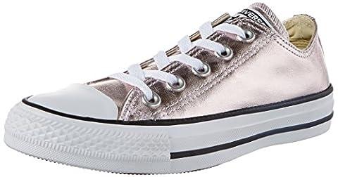Converse Unisex-Erwachsene Ctas OX Rose Quartz/White/Black Sneaker, Mehrfarbig (Rose Quartz/White/Black), 42 (Chuck Taylor Metallic Lo Top)