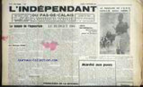 INDEPENDANT DU PAS DE CALAIS (L') [No 71] du 03/09/1960 - LE TEMPLE DE L'HYPOCRISIE PAR GEORGES RIOND - LEBUDGET 1961 - JEUX OLYMPIQUES - LE BOUCLIERDE L'O.N.U. SERA-T-IL SOLIDE. par Collectif