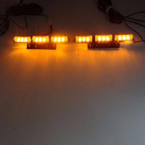 SHINA 2x9LED 12DC V 24W Feux auto Stroboscope Strobe Clignotant Flash d'urgence Alerte Pour Voiture Camion