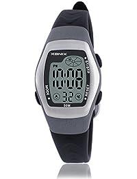 Reloj electrónico digital de múltiples funciones de los ni?os,Jalea led 50 m resina resistente al agua correa calendario alarma cronómetro chicas o chicos moda reloj de pulsera-C