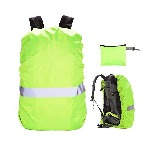 Mitening Regenschutz für Schulranzen Rucksack (20-70L), Wasserschutz Rucksackschutz Ranzen Rucksackcover Regenüberzug mit Reflektorstreifen & Rutschfester Schnallenriemen für Wandern Camping Radfahren