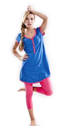 DN, Pyjama, PM 5037, navy blue, Gr. L (Baby Blue Lingerie)