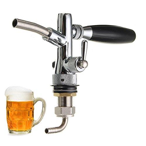 wuchance Dispensador de cerveza artesanal de barril de cerveza de barril ajustable con controlador de flujo para barrilete G5 / 8 vástago