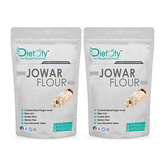 Dietofy Jowar Flour 2kg, A Healthy Diet Solution (1Kg Each Pack 2)